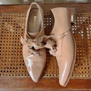 Pink Patent Leather Oxfords